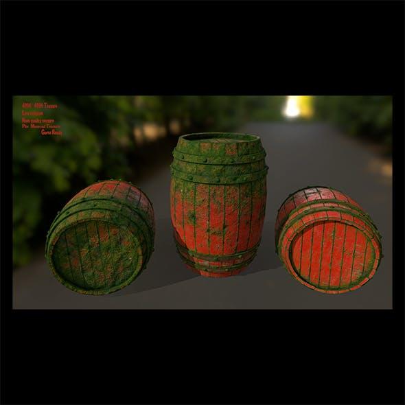 Wood_Barrel 6 - 3DOcean Item for Sale