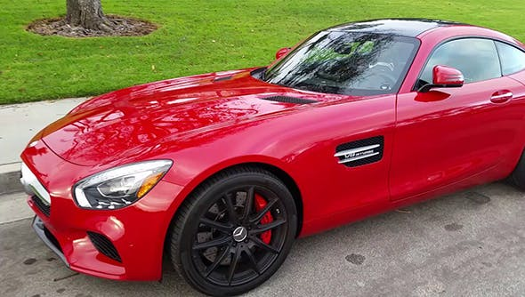 RED 2017 Mercedes Benz AMG GT. - 3DOcean Item for Sale
