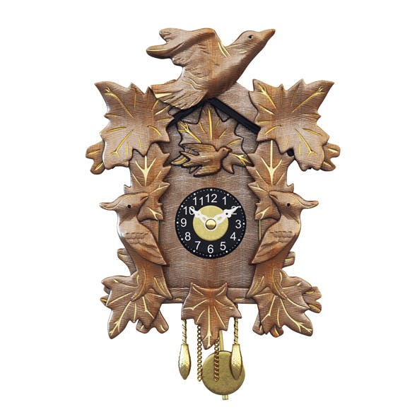 Wall clock with birds - 3DOcean Item for Sale
