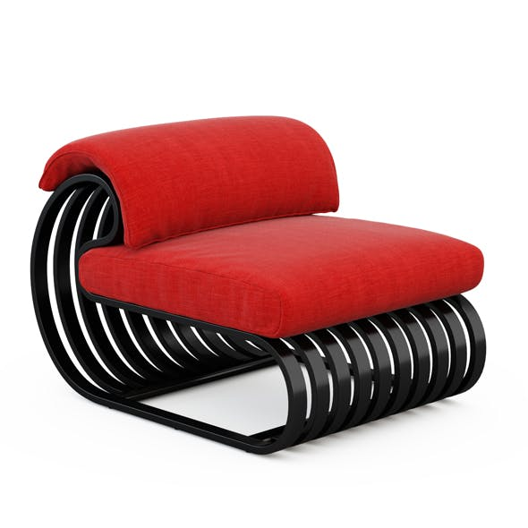 Contour Lounge Chair - 3DOcean Item for Sale
