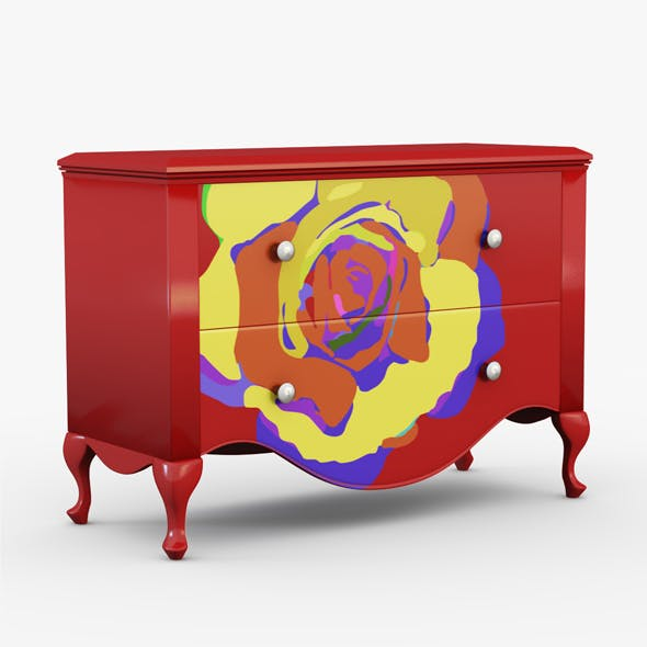 Commode drawing flower - 3DOcean Item for Sale