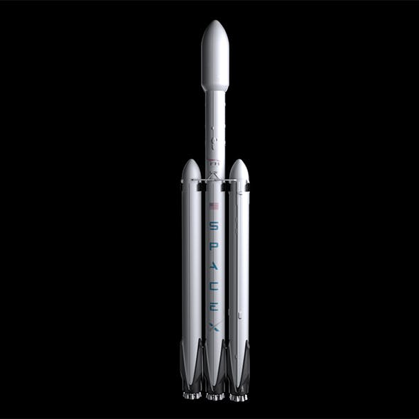 Falcon Heavy V1.2 - 3DOcean Item for Sale