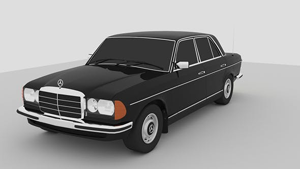 Mercedes w123 - 3DOcean Item for Sale