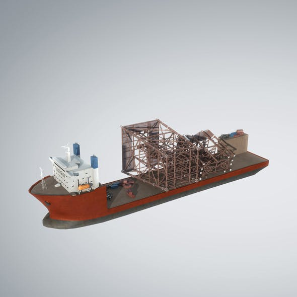 Dockwise Marine Heavy Transport Vessel 3D model