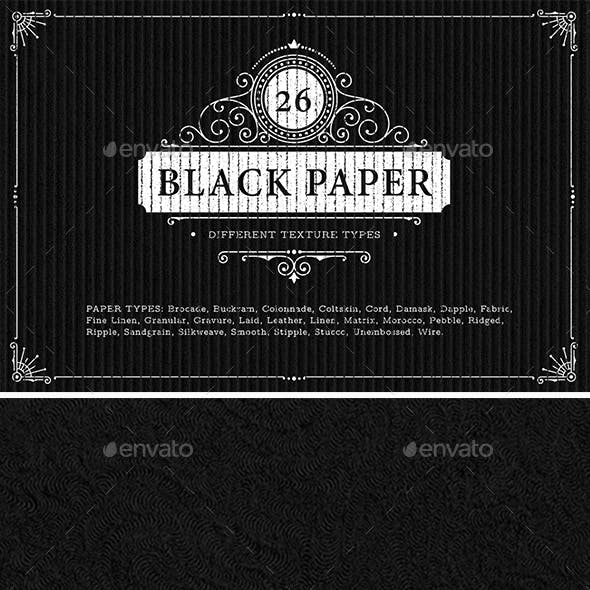 26 Black Paper Texture Backgrounds
