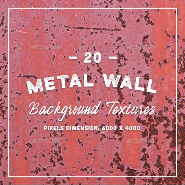 20 Metal Wall Background Textures