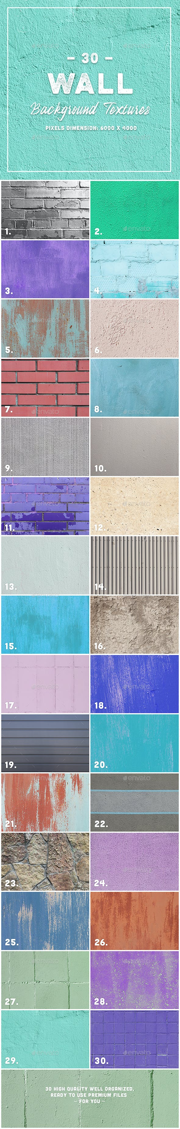 30 Wall Background Textures - 3DOcean Item for Sale
