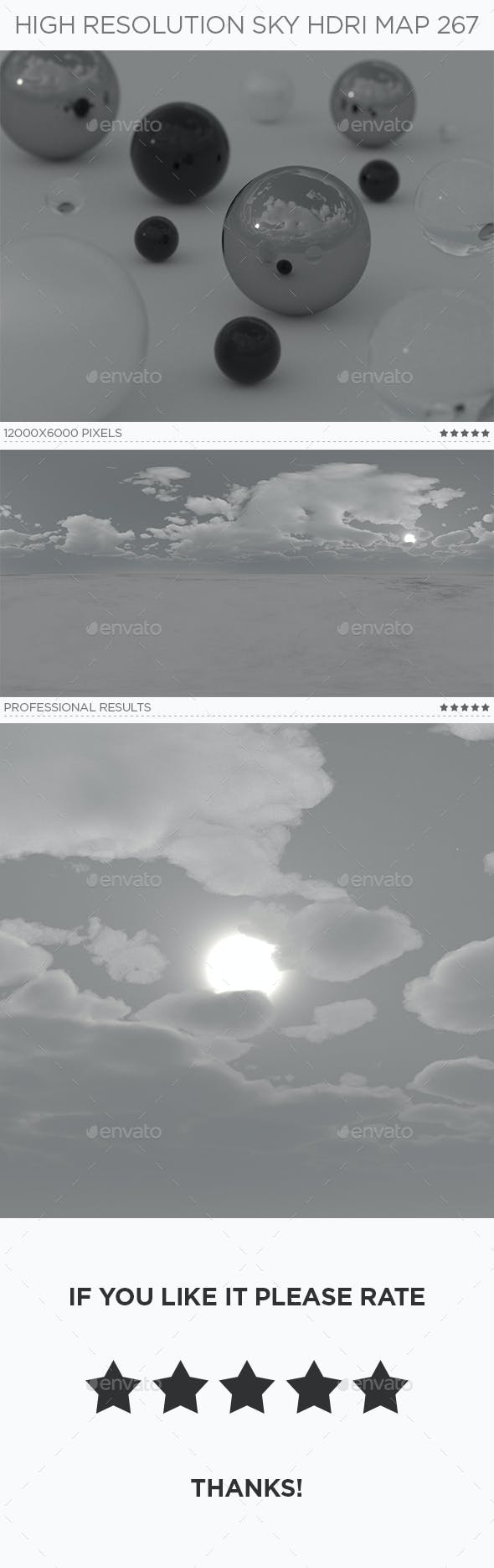 High Resolution Sky HDRi Map 267 - 3DOcean Item for Sale