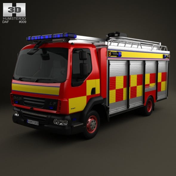 DAF LF Fire Truck 2011 - 3DOcean Item for Sale