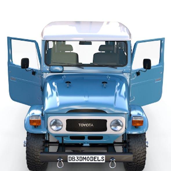 Toyota Land Cruiser FJ 40 Blue with Interior