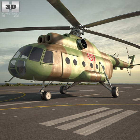 Mil Mi-8 - 3DOcean Item for Sale
