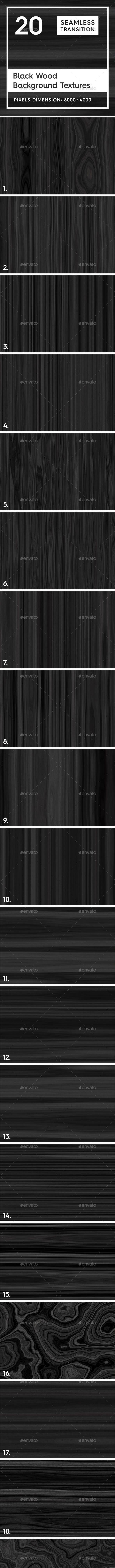 20 Black Wood Background Textures - 3DOcean Item for Sale