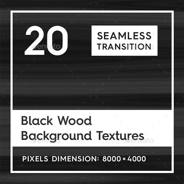 20 Black Wood Background Textures
