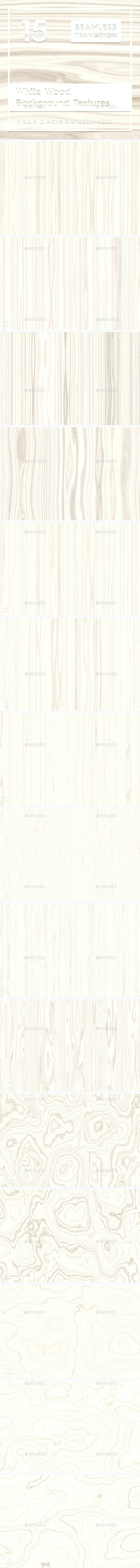15 White Wood Background Textures - 3DOcean Item for Sale