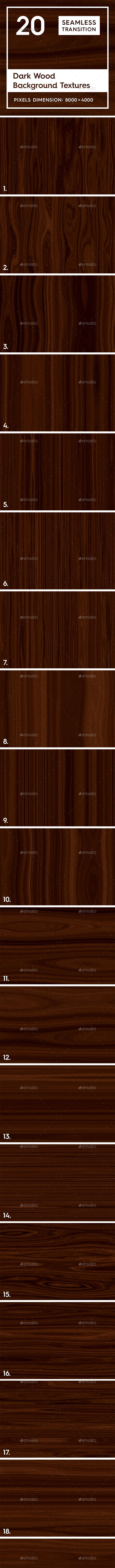 20 Dark Wood Background Textures - 3DOcean Item for Sale