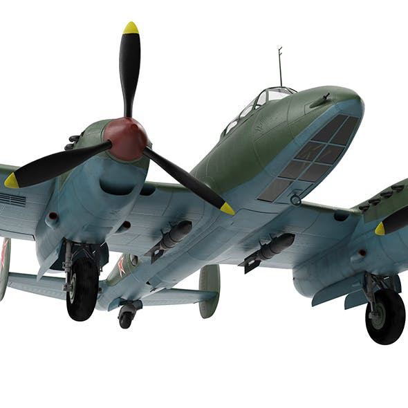 Petlyakov Pe-2 - 3DOcean Item for Sale