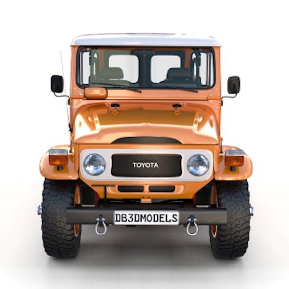 Toyota Land Cruiser FJ 40 Orange with Interior