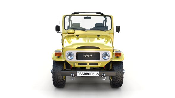Toyota Land Cruiser FJ 40 Top Down with Chassis and Interior - 3DOcean Item for Sale
