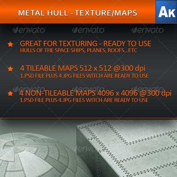 METAL HULL - TEXTURE/MAPS