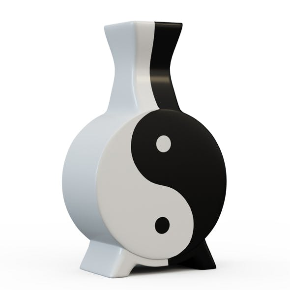 Vase Yin Yang - 3DOcean Item for Sale