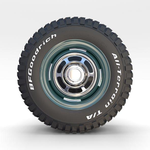 Toyota Land Cruiser FJ 40 Wheel 1 - 3DOcean Item for Sale
