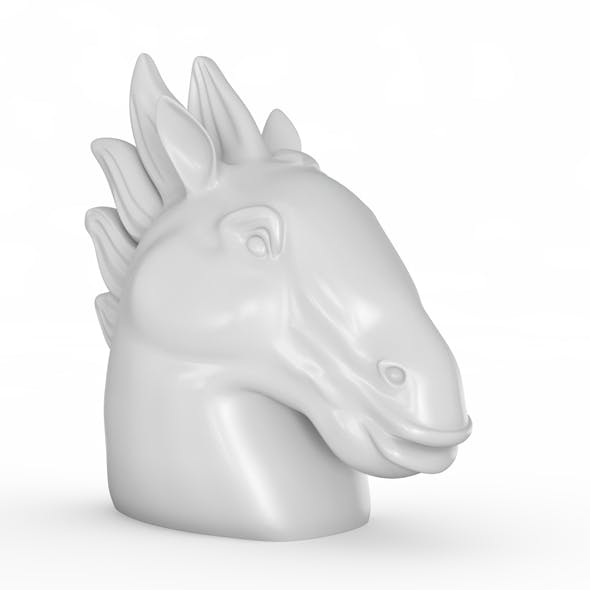 Figurine head of a horse - 3DOcean Item for Sale