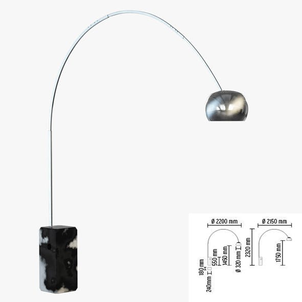 Floor lamp Flos Arco - 3DOcean Item for Sale