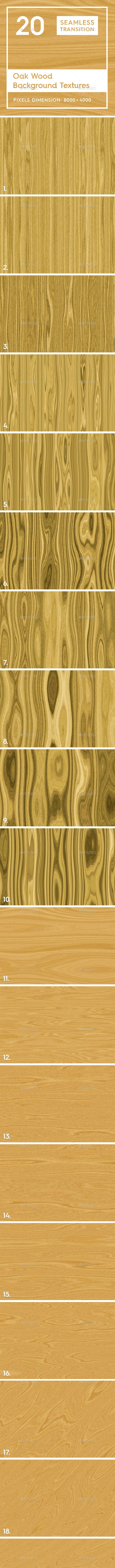 20 Oak Wood Background Textures - 3DOcean Item for Sale