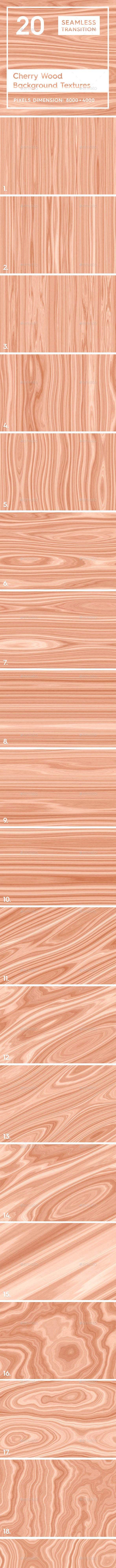 20 Cherry Wood Background Textures - 3DOcean Item for Sale