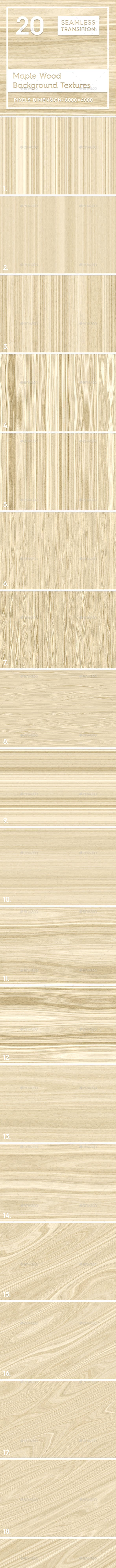 20 Maple Wood Background Textures - 3DOcean Item for Sale