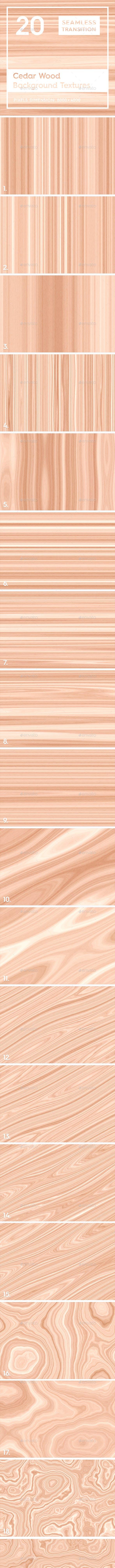 20 Cedar Wood Background Textures - 3DOcean Item for Sale