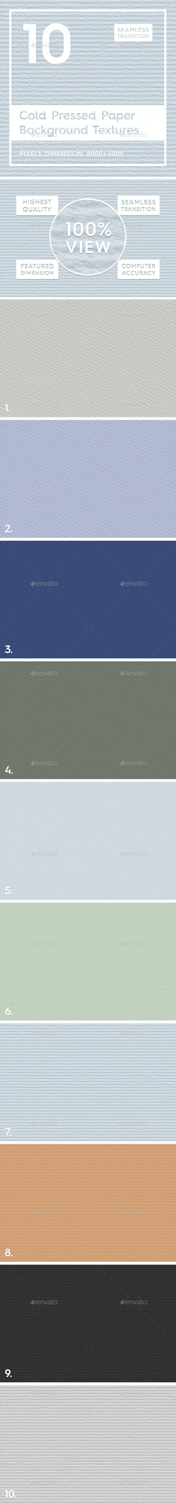 10 Cold Pressed Paper Textures - 3DOcean Item for Sale