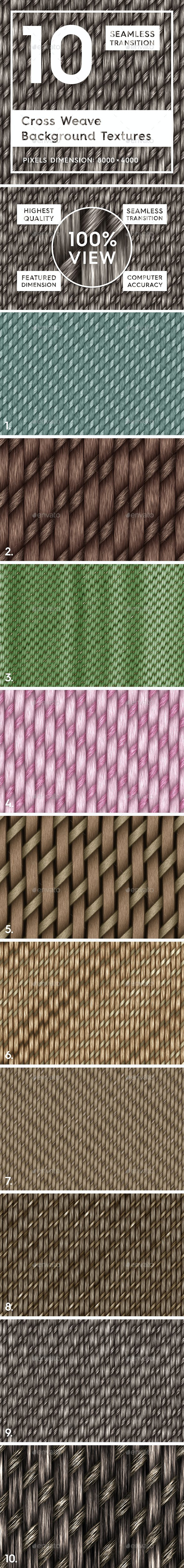 10 Cross Weave Background Textures - 3DOcean Item for Sale