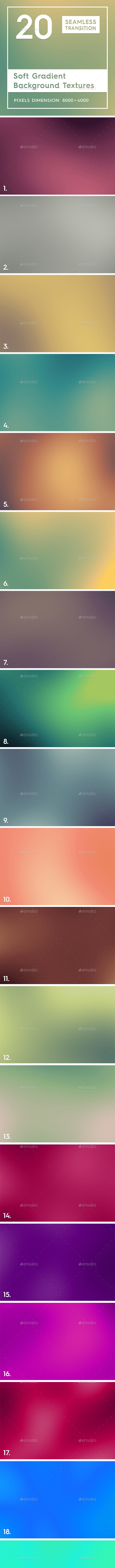 20 Soft Gradient Background Textures - 3DOcean Item for Sale