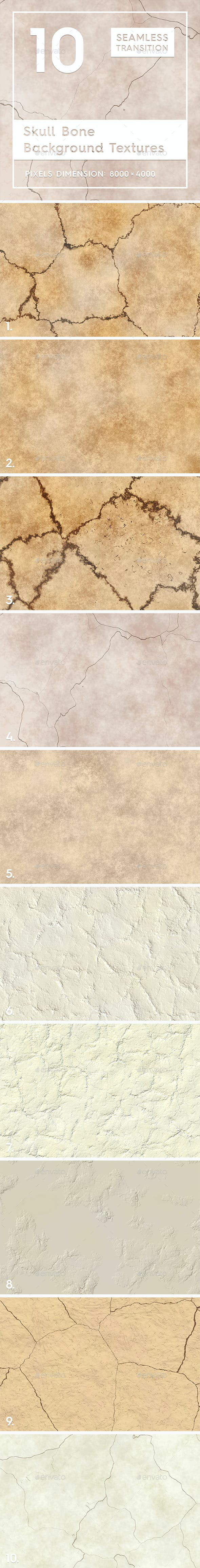 10 Skull Bone Background Textures - 3DOcean Item for Sale