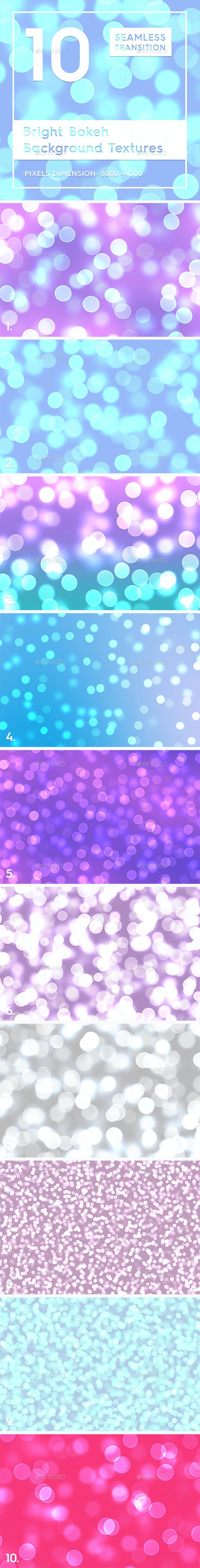 10 Bright Bokeh Background Textures - 3DOcean Item for Sale