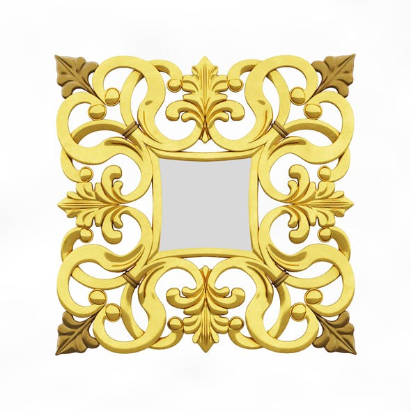 Julia mirror Square Calado - 3DOcean Item for Sale