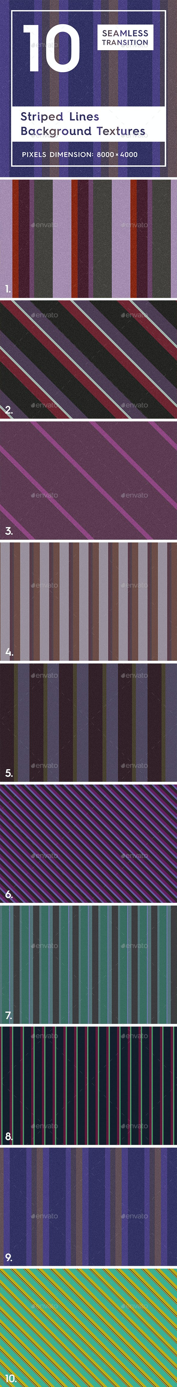 10 Striped Lines Background Textures - 3DOcean Item for Sale
