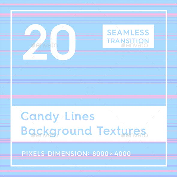 20 Candy Lines Background Textures
