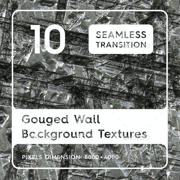 10 Gouged Wall Background Textures