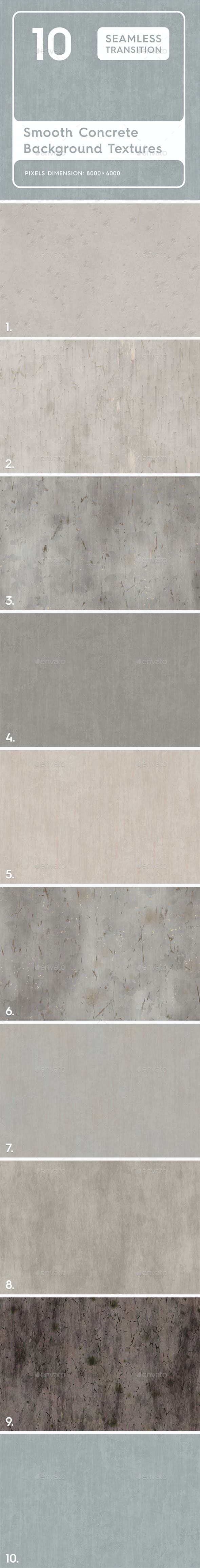 20 Smooth Concrete Background Textures - 3DOcean Item for Sale
