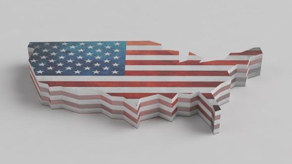 U.S. flag map - 3DOcean Item for Sale