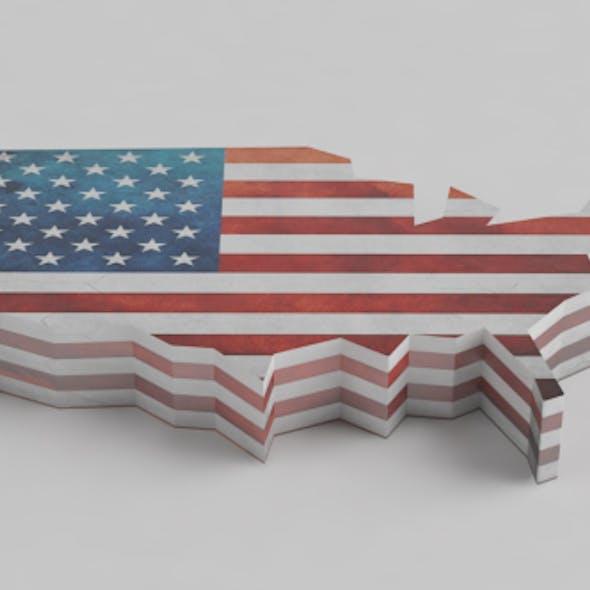 U.S. flag map