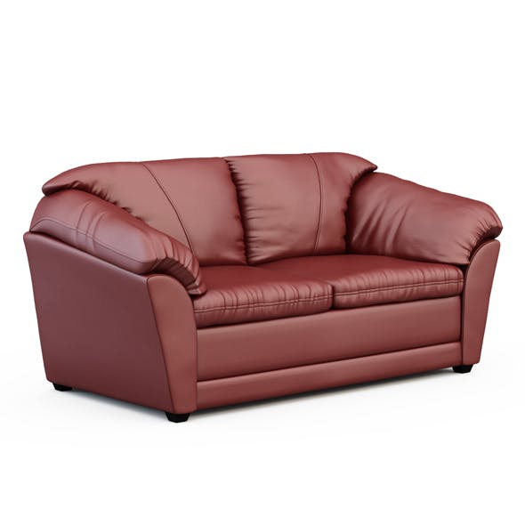 Leather sofa - 3DOcean Item for Sale