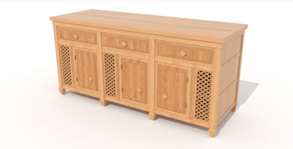 Asian Cabinet A - 3DOcean Item for Sale