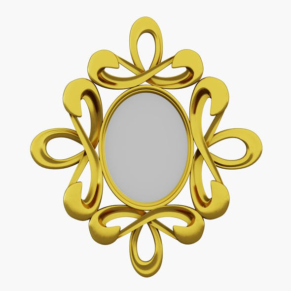 Gold Mirror - 3DOcean Item for Sale
