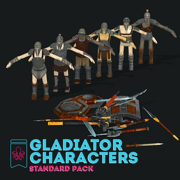 Gladiator Character - Standard Pack - 3DOcean Item for Sale
