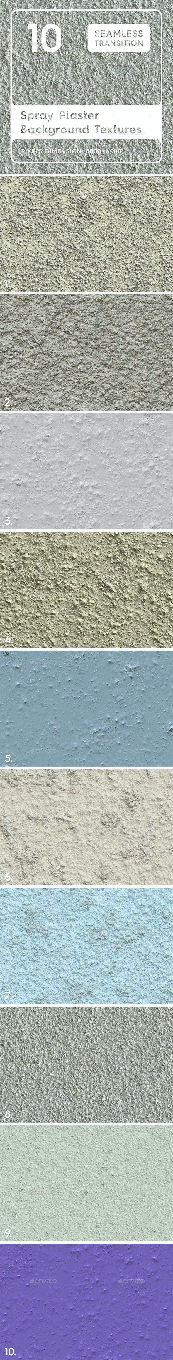 10 Spray Plaster Background Textures - 3DOcean Item for Sale