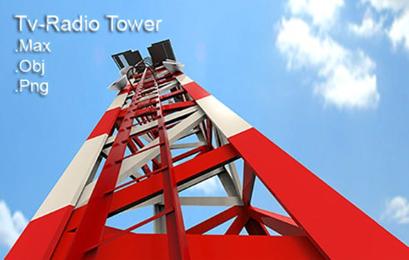 Tv-Radio Tower - 3DOcean Item for Sale