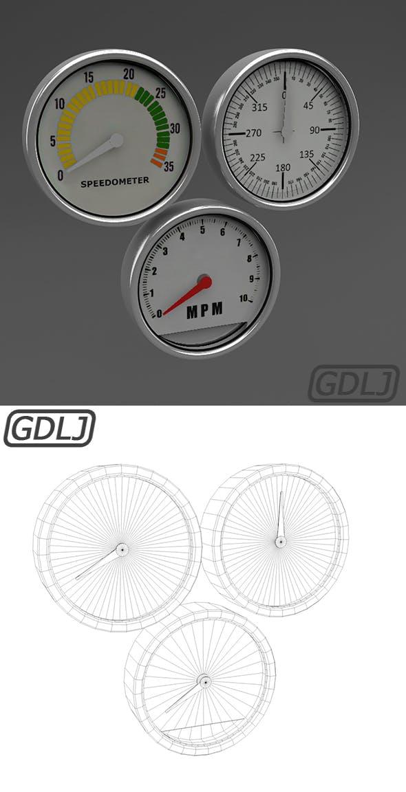 3 Car Meter - 3DOcean Item for Sale